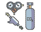 CO2機器のイラスト