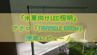 【水草向けLED照明】アクロ「TRIANGLE GROW」使用レビュー!